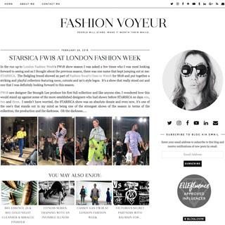 Fashion Voyeur - Newcastle Upon Tyne
