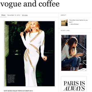 vogue and coffee - NYC